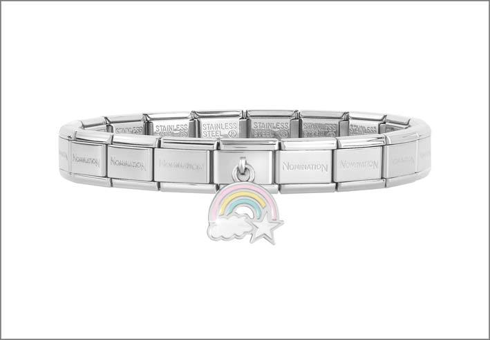 Nomination, bracciale composable con arcobaleno