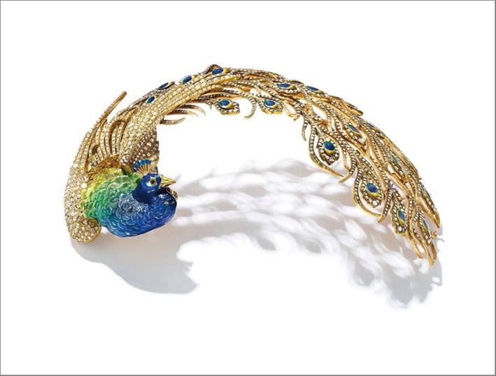 Aigrette di diamanti e smalti di Mellerio dit Mellerio, venduto per 650.000 dollari