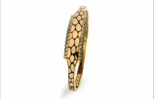 Bracciale della collezione Anaconda in oro 18 carati, diamanti neri
