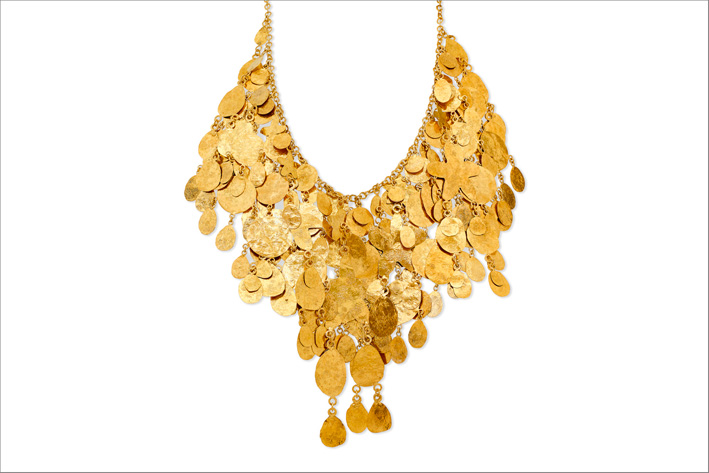 Collana in argento placcato oro
