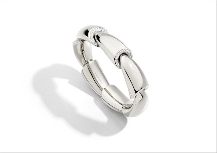 Bracciale Calla in oro bianco e diamanti