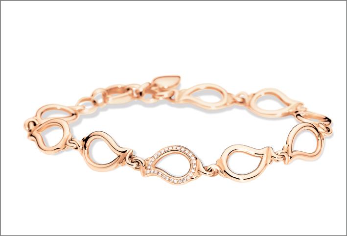 Bracciale in oro rosa e diamanti della collezione Signature