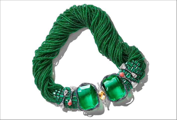 Cindy Chao, la collana The Art Jewel Emerald Architectural