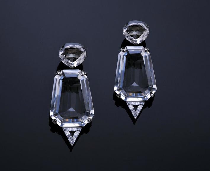 Orecchini di Mr. Lieou in cristallo di rocca