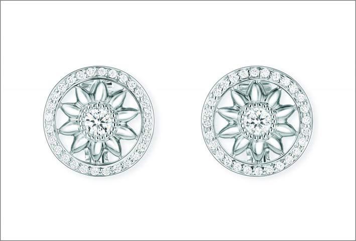 Orecchini in platino e diamanti