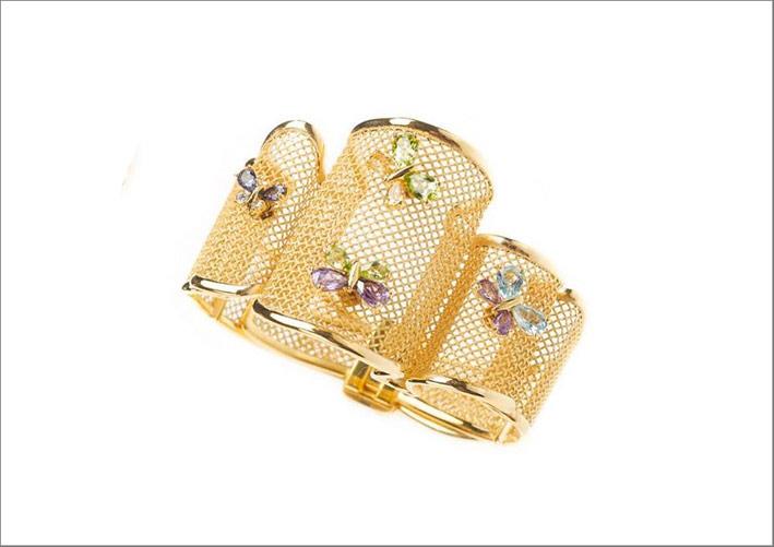 Bracciale in oro realizzato con la stampa 3D