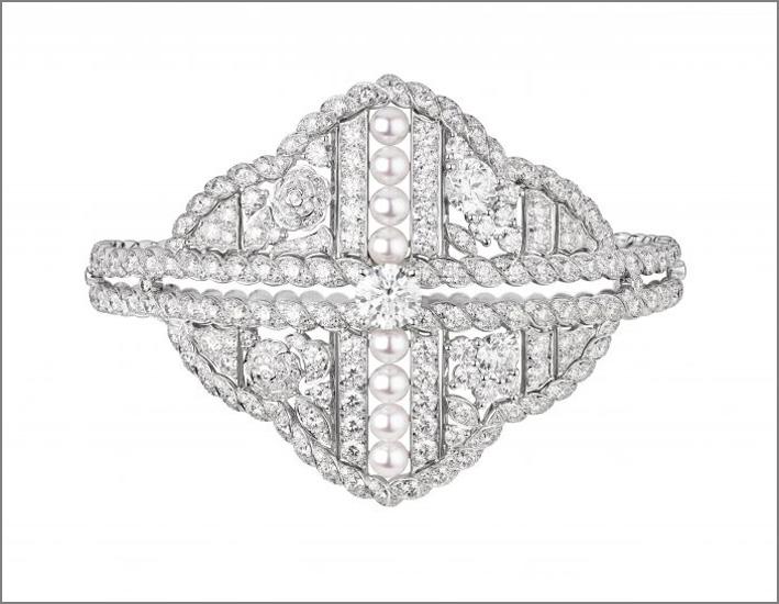 Bracciale Roubachka in oro bianco e diamanti
