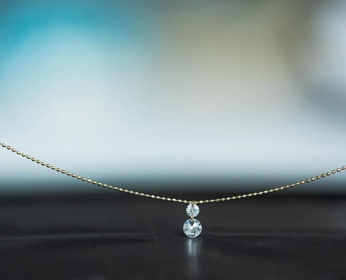 Pendente con diamanti