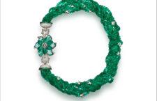 Collana con smeraldi