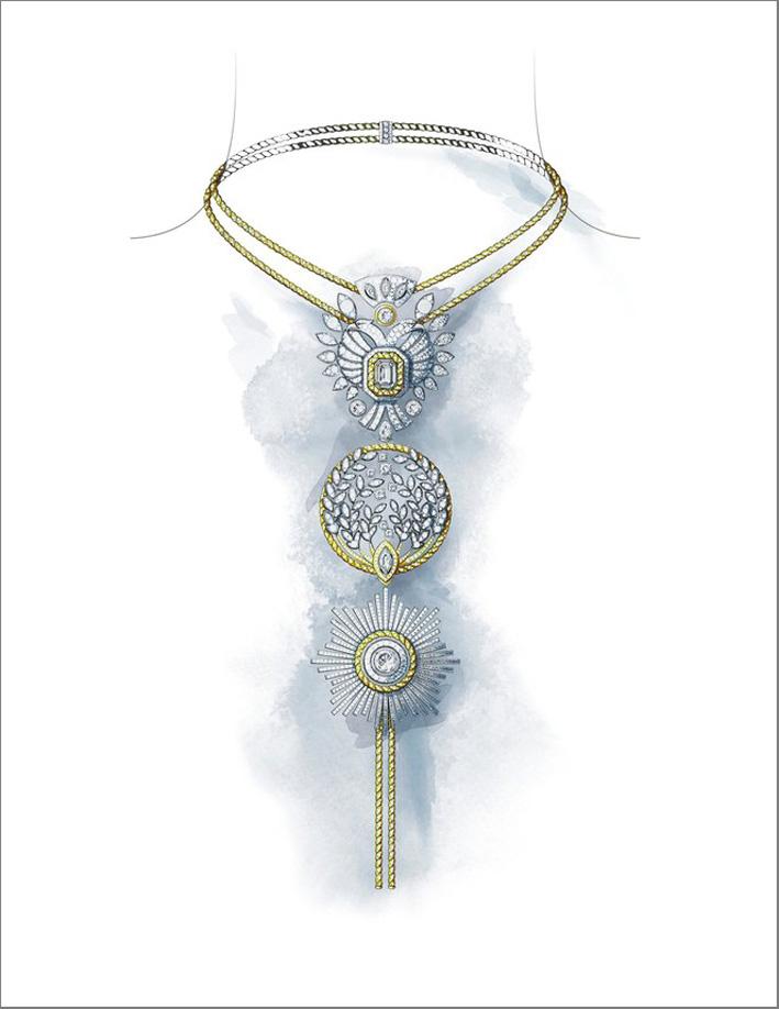 Bozzetto di collana della collezione Le Paris Russe de Chanel