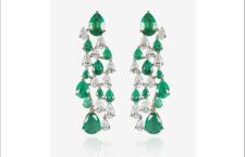 Orecchini Italian Garden, con diamanti e smeraldi