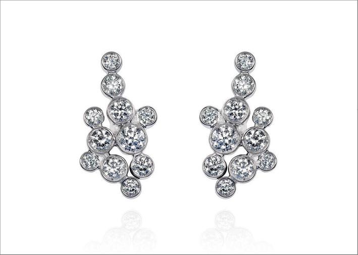 Mike Jospeh, orecchini in oro bianco e diamanti