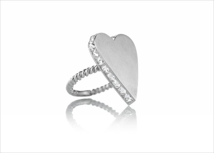 Anello Special Love Yours in oro bianco 18 carati e diamanti