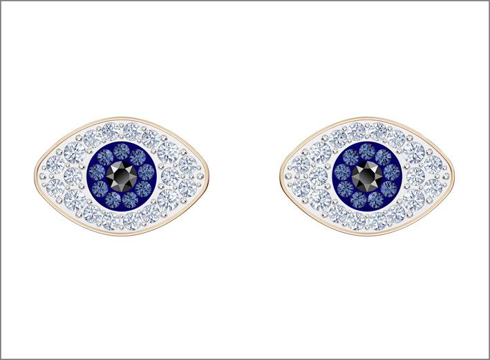 Orecchini con il simbolo degli occhi