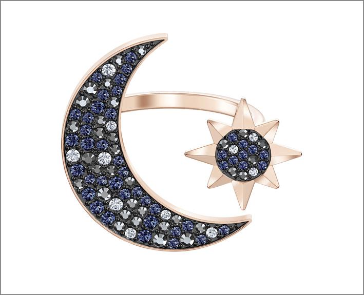 Anello con simbolo della luna