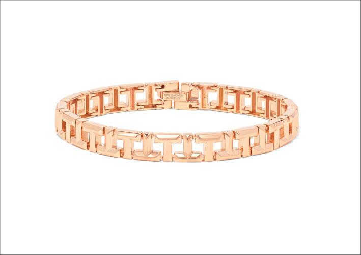 Bracciale in oro rosa Tiffany T
