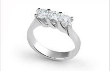 Recarlo, anello Trilogy in oro bianco e diamanti