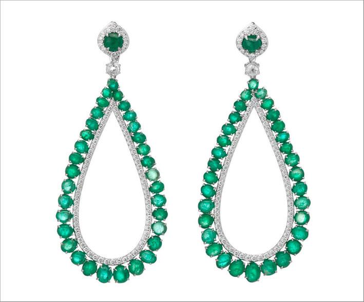 Orecchini smeraldi di Muzo