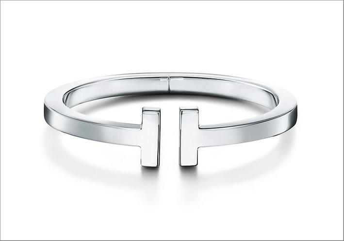 Bracciale da uomo in argento Tiffany T Square