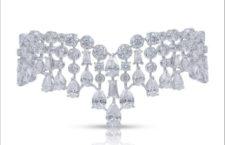 Bracciale  Raindrop con diamanti taglio rotondo, baguette e a goccia