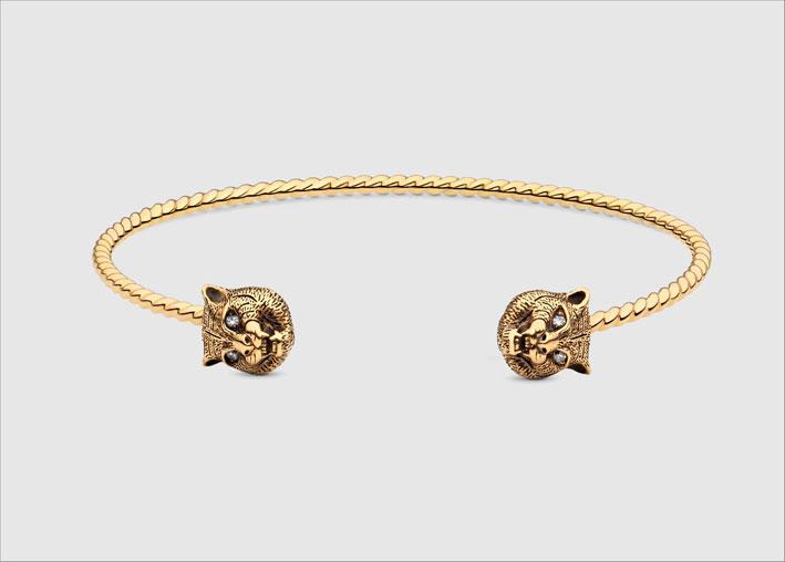 Bracciale in oro giallo 18 carati, diamanti