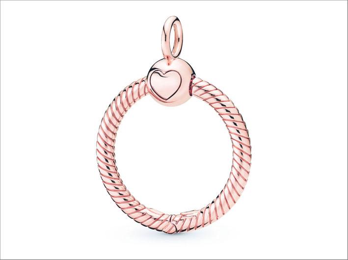 Anello ciondolo versione Pandora Rose