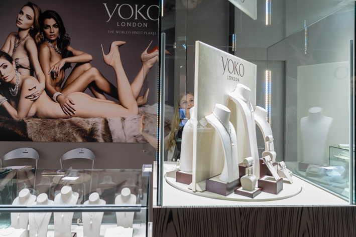 Il booth di Yoko London a VicenzaOro