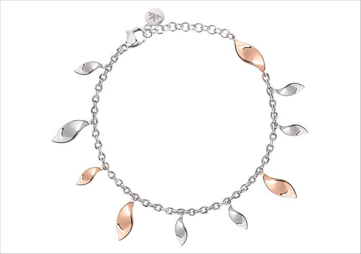 Bracciale in argento della collezione Foglia