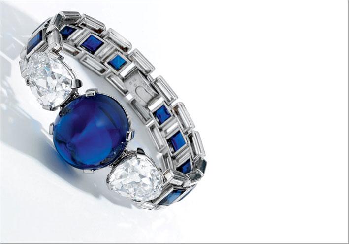 Bracciale di Cartier con zaffiri e diamanti