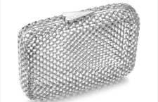 Clutch in argento