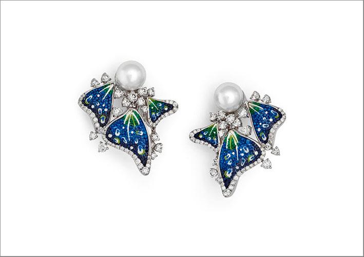 Orecchini con micro mosaico e perle