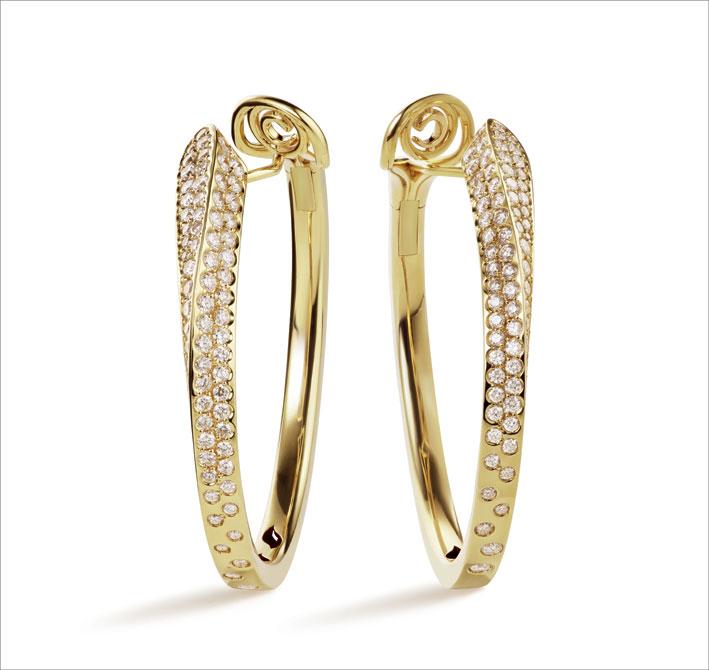 Orecchini Like in oro giallo e diamanti