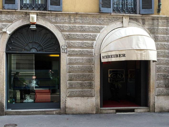 La storica gioielleria Schreiber, a MIlano
