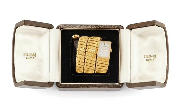 Bracciale-orologio in oro di Bulgari