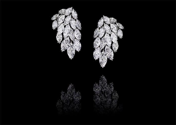 Orecchini con diamanti classe D per 47,3 carati su platino
