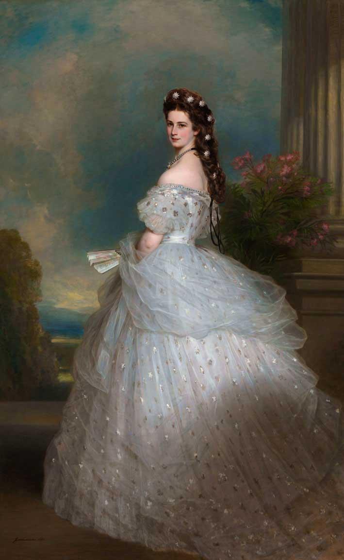 Elisabetta d'Austria, quadro di Franz Xaver Winterhalter