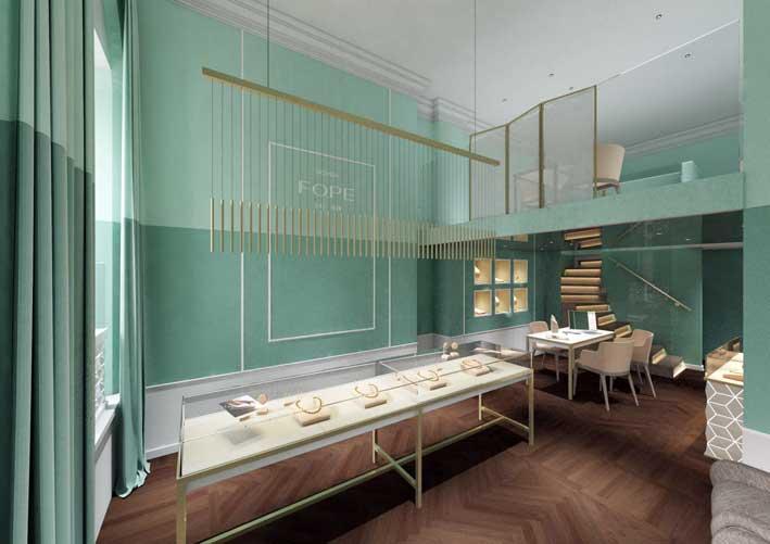 Il flagship store di Fope a Londra