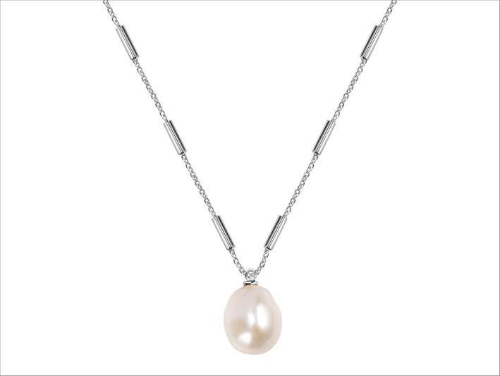 Morellato, collana in metallo e perla barocca della collezione Oriente