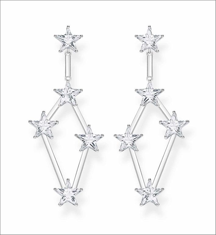 Orecchini in argento con cubic zirconia