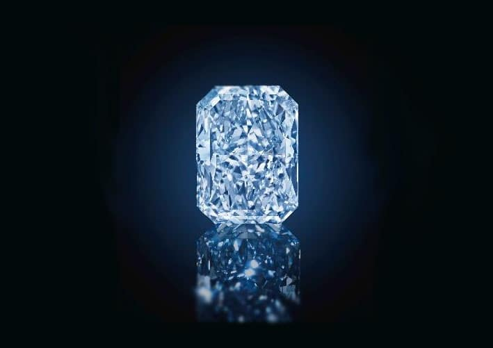 The Cullinan Dream, 24.18ct Fancy Intense Blue VS2 Rectangular Shaped Diamond