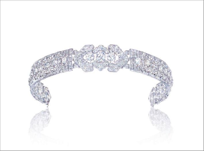 Bandeau di diamanti Art Déco di Cartier