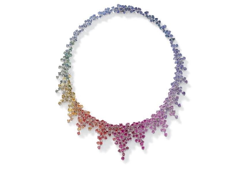 Alta gioielleria Damiani, la collana Mimosa Rainbow