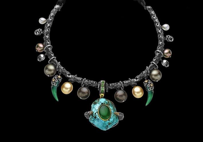 Castro NYC, Dark Jewels necklace
