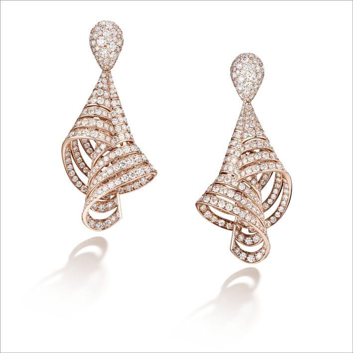 Orecchini in oro rosa e diamanti Divina