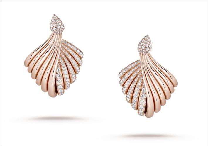 Orecchini in oro rosa e diamanti Tentazioni