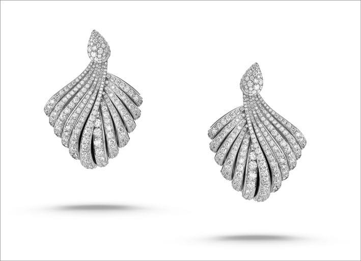 Orecchini in oro bianco e diamanti Tentazioni