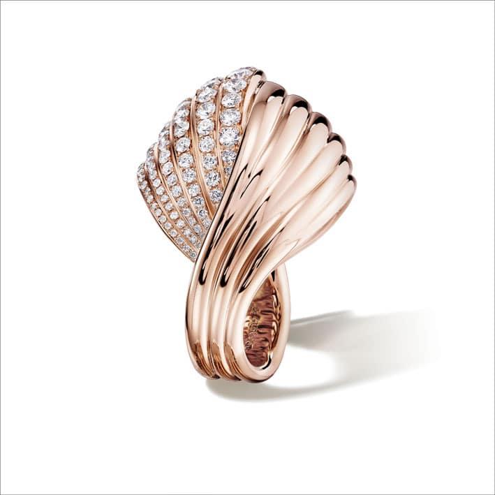 Anello in oro rosa e diamanti Tentazioni