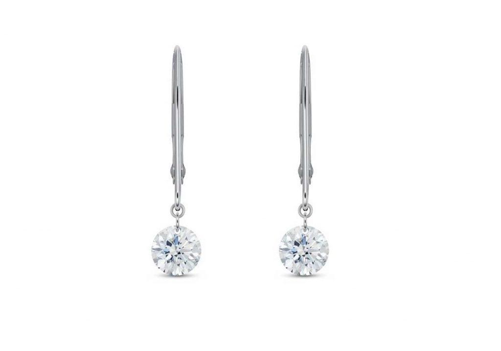 Orecchini con diamanti di laboratorio Lightbox