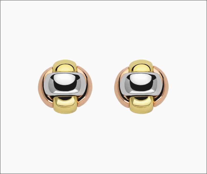 Orecchini in oro di tre colori