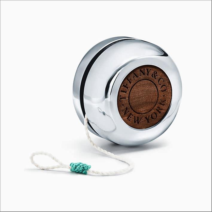 Yo-Yo in argento e legno di noce